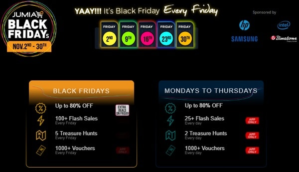 2018 Jumia Black Friday Promo Starting Date & Offers