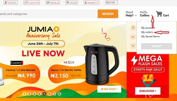 How to track Jumia order or find out the status of your order