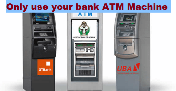 (Warning) Only use your bank ATM Machine throughout the lockdown period
