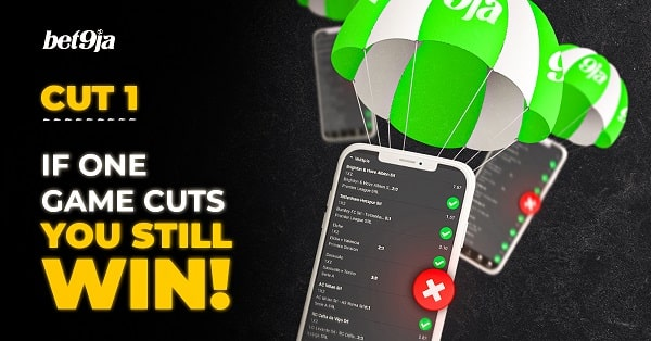 (Bet9ja Cut 1) Get paid when one game cut your Ticket