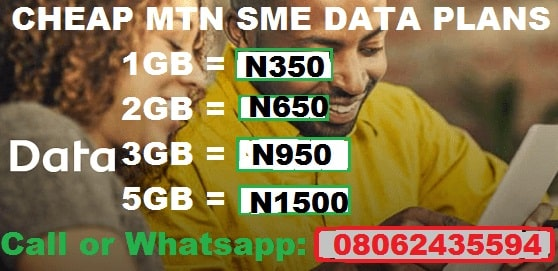 MTN Cheap Data reloaded 5GB for N1,500 & 2GB for N650 only