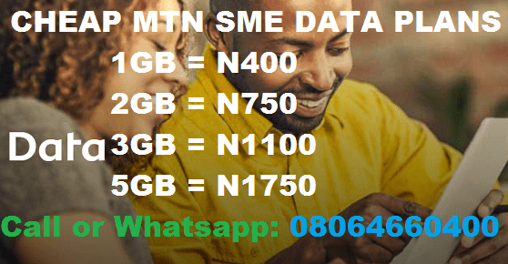 MTN Cheap Data reloaded 5GB for N1,800 & 2GB for N700 only