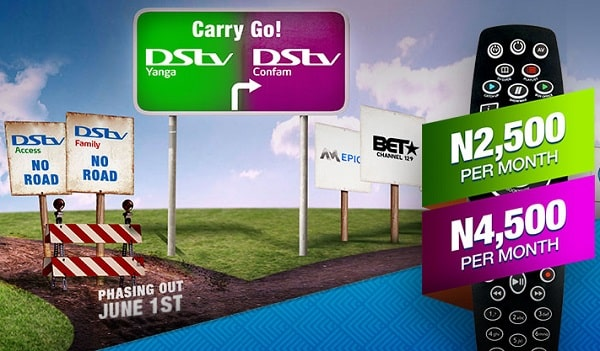 Introducing DStv Yanga & Confam Package plan see (New Prices in all plans)