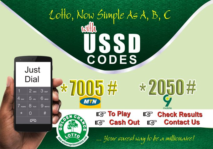 How to Play Golden chance Lotto with a short code (USSD)