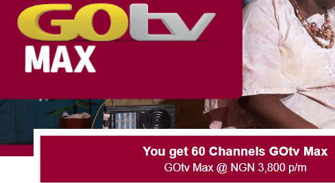Introducing New GOtv Max Plan package, channels and price