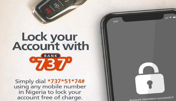 An easy way to lock your GTbank Account