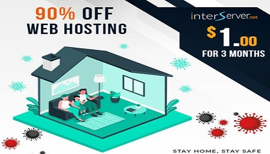 (Promo) $1 for 3 Months Web Hosting offered by Interserver