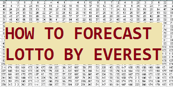 Lotto 4cast, How to forecast and win lotto by yourself