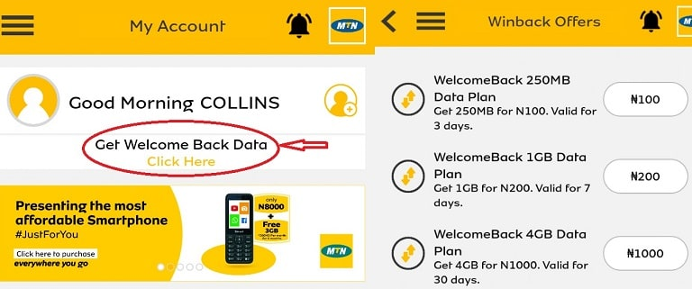 How to get MTN 4GB for N1000, 1GB, N200, 250MB, N100 (30 DAYS)