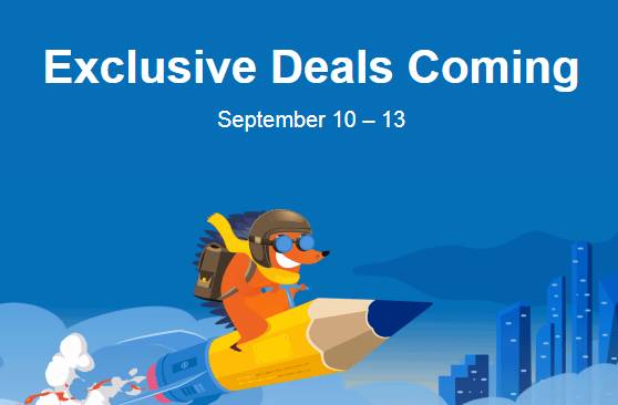 Get ready for Namecheap Exclusive Deals from 10-13 Sept 2019