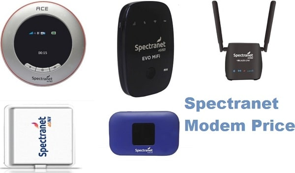 List of Spectranet Modems, Prices and Features